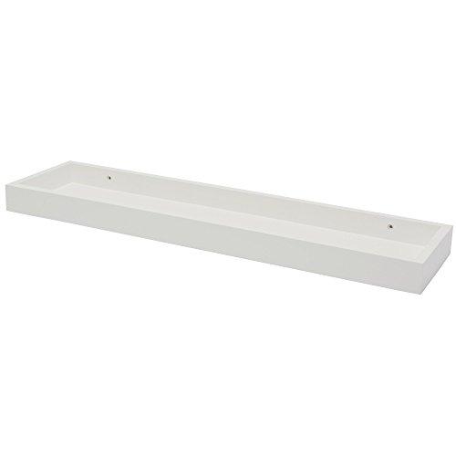 Fetim Wandregal mit hohen Kanten- B!Organised, 1 Stück, weiß, 1151098 (4 Regal-metallic-bücherregal)