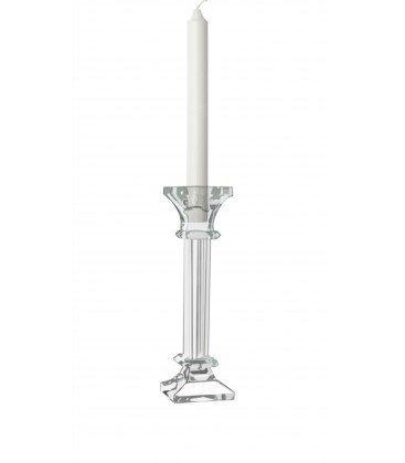 DAFLOXX Kerzenleuchter Glas 20cm einflammig Kerzenständer Tischleuchter klar Kristall