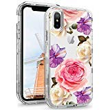 YINLAI iPhone Hülle mit Design Shockprook Hybrid Soft TPU Gummi Bumper Hard PC Cover Full Body Protective Phone Cases for iPhone, Clear(NO Screen Protector) Protector Hard Case Gummi