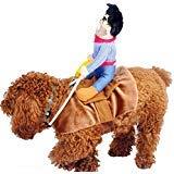 iSmarten Cowboy Rider Hund Kostüm für Hunde Outfit Knight Stil mit Puppe und hat Pet Kostüm, M (Knight Rider Kostüm)