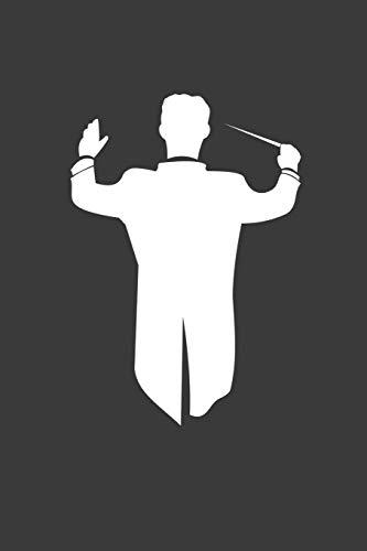 Dirigent: Liniertes DinA 5 Notizbuch für Musikerinnen und Musiker Musik Notizheft