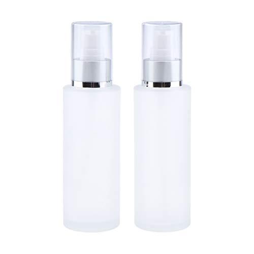 Fenteer 2 Stück 100ml Sprühflasche Pumpflsche Pumpspender für Parfüm, Lotion, Flüssige Cremes, Feuchtigkeitscremes usw, Leer zum Selbst Befüllen - B