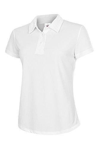 Uneek-Polo da donna, da 140 g/m², 100% poliestere traspirante _7 colori disponibili Bianco