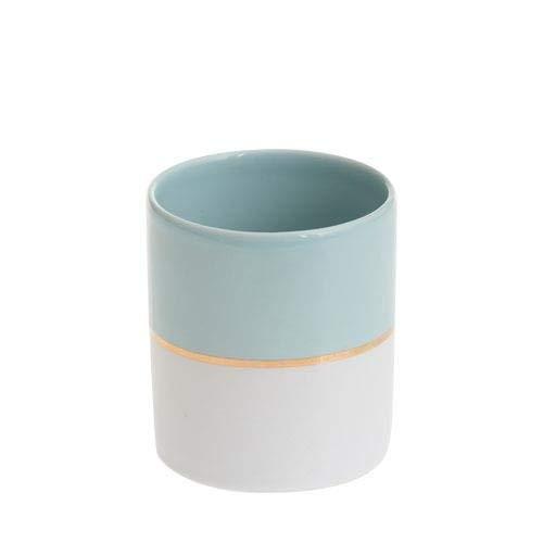 Yankee Candle einfach Pastell Blau Votivkerzenhalter, Keramik, Mehrfarbig, M