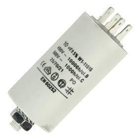 Anlaufkondensator mit STECKER (Motorkondensator) 10uF 10µF -