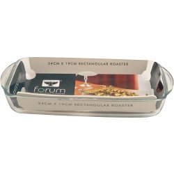 Mason Cash Collection Bräter aus Glas Auflaufform, rechteckig, transparent, 40cm -