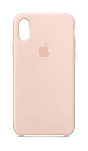 Apple Custodia in silicone (per iPhone XS) - Rosa sabbia