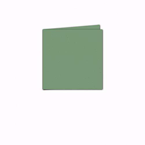 Faltkarte/Doppelkarte - Greenline Pastell Misty Green / 100 Stück/Quadratisch 155 x 155 mm