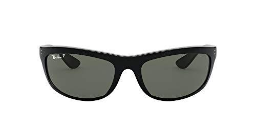 Ray-Ban Unisex Balorama Sonnenbrille, Schwarz (Gelstell: Schwarz, Gläser: Polarized Grün Klassisch 601/58), X-Large (Herstellergröße: 62)