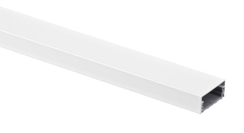 Alu Kabelkanal weiß eckig 115x5 cm für TV HiFi Computer Lampen Aluminium Abdeckung LED, Plasma...