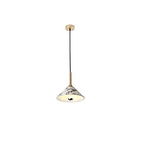 AIDENG YG Moderner minimalistischer einzelner Kopf-Leuchter personifizierte kreative Nachahmung-Marmor-Harz-Leuchter-Restaurant-Bar-Café-Beleuchtungskörper [Energieklasse A] -