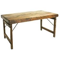 MONTPARNASSE TABLE, MESA VINTAGE DE MADERA, PLEGABLE, PARA SALÓN Y COMEDOR, L149xA89xH76 CM
