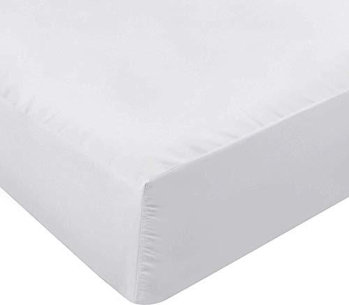 Utopia Bedding Drap Housse - Bonnets 35 cm pour Matelas Épais - Microfibre Brossée - (Blanc,160 x 200 cm)