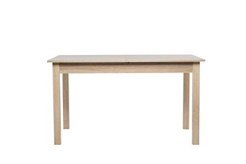 Avanti trendstore - colima - tavolo da pranzo, allungabile per 40 cm, in legno laminato, disponibile in 2 diversi colori ed in 4 diverse misure (140-180x76,5x80 cm, marrone)