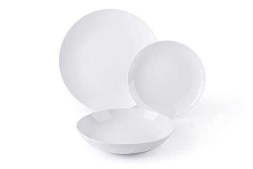 Excelsa coup servizio piatti 18 pezzi, porcellana, bianco