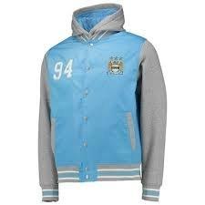 BNWT Manchester City FC Satin Bomber Jacket Size:L (Trikot Auswärts City)