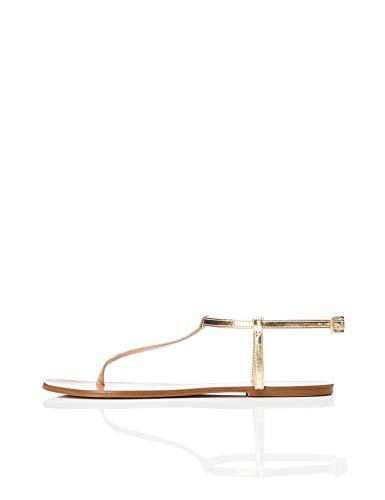 find. Toe Thong Sparkly Peeptoe Sandalen, Gold), 36 EU Gold Thong Schuh