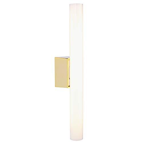 Spiegellampe LED 7 Watt | Spiegelleuchte Messing | LED-Leuchte 500 Lumen 230V | Leuchte 2700 Kelvin warmweiß extra | Wandlampe 30 cm inkl. LED-Linienlampe - Messing Bad-leuchten