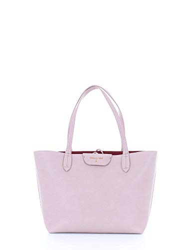 PATRIZIA PEPE shopping bag reversibile 2V5452 double powder/dark red