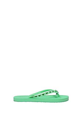 Infradito Armani Jeans Donna Tessuto Verde Acqua V55F2646R Verde 36EU