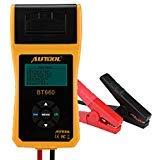 Keenso BT660 Batterieleitungsprüfer, 12 V / 24 V Autobatterie-Tester mit Drucker, Autobatterie, Ladegerät, Diagnosewerkzeuge, digitales Batterie-Analysator für schwere Autos, LKW, Boote