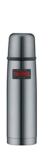 THERMOS 4019.218.050 Thermosflasche Light & Compact, Edelstahl Cool Grey 0,5 l, Spülmaschinenfest, 12 Stunen heiß, 24 Stunden kalt