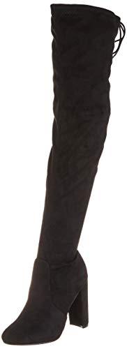 Mujer Talón De Bloque Tramo Largo Sobre La Rodilla Equitación Talle Grande Alto Botas - Nero - UK5/EU38 - KL0074