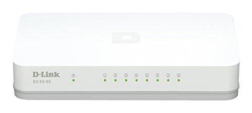 D-Link - GO-SW-8G - Commutateur Gigabit avec 8 ports Ethernet - Blanc