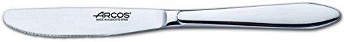 Arcos Séries Berlin - Couteau à Dessert Couteau de Table - Monobloc d'une Pièce Acier Inoxydable 85 mm Couleur Argent