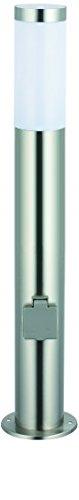 Hilight Edelstahl Wegeleuchte mit 2 Steckdosen 80cm
