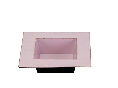 -Gefäße - Serie SKIPPEN aus Kunststoff in Antik-Finish (Schale, Rosa - B20xT20xH5cm) ()