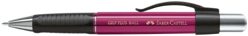 Faber-Castell 140734 - Kugelschreiber Grip Plus Ball, Mine: M, brombeer
