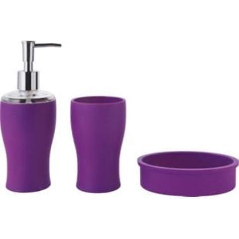ColourMatch–Set di accessori da bagno, colore: viola Fizz. . Set