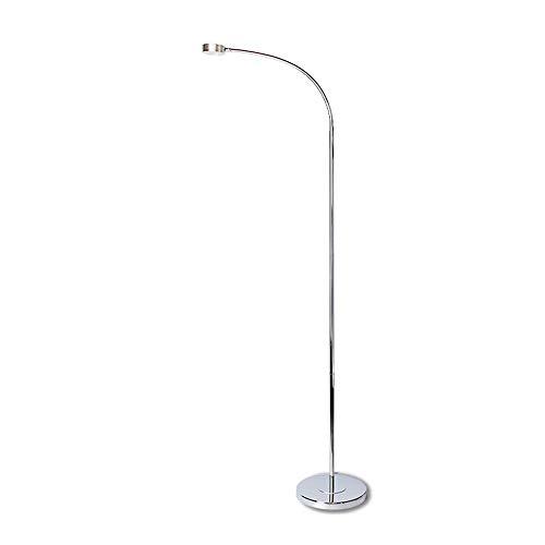 Lámpara de pie LED de cuello de cisne de 9W, lámpara de pie de lectura creativa con protección ocular cromada, lámpara de pie multifuncional de la sala de estar, ajustable ( Color : 9W -white light )