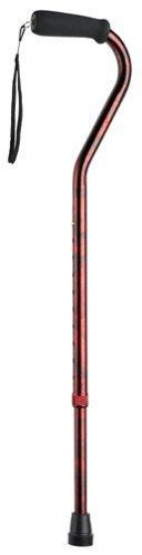 Carex Offset Designer Cane, Red by Carex Health Brands