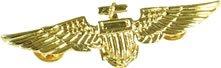 Aviator Pin. Metal / Gold Colour Accessory Fancy Dress