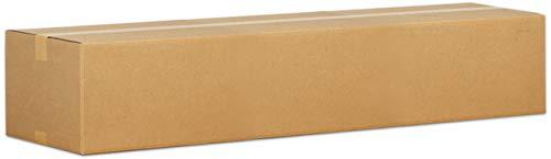 Pressel Versandkarton, Wellpappe, 1wellig, C, innen: 800 x 200 x 100 mm, braun, FEFCO: 0201 (10 Stück) (Wellpappe-versandboxen)