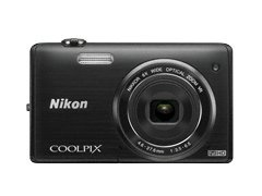 Nikon Coolpix S5200 16MP Point and Shoot Camera (Black) with 6x Optical Zoom, 4GB Card, Camera Case and HDMI Cable