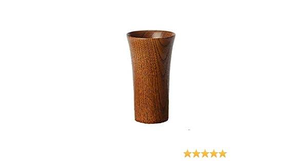 13,5 CM Legno di JuJube Scuro BMTick Piccolo vaso minimalista in legno per fiori BMTick stile Gregoriano