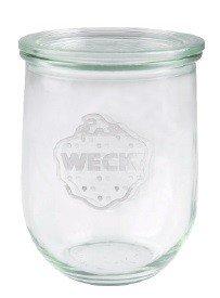 Weck-Tulpen-Glas, runder Rand, glas, durchsichtig, 1050 ml, 6 Stück - 1 Liter Glas