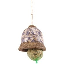Vintage Ceramic Fat Ball Bird Feeder - shabby chic from Vectis