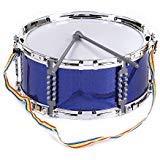 ammoon Coloré Jazz Snare Drum Jouet Musical Instrument à percussion avec Baguettes Sangle pour les Enfants Bleu