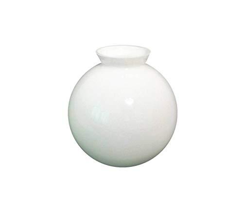 Sostituzione vetro bianco globo paralume per luce ventilatore da soffitto. diametro esterno della base: 7.7cm, apertura: 6.5cm diametro, massimo larghezza: 15.0cm diametro, altezza: 15.5cm