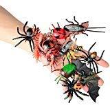 12 stücke Bugs Insekten Realistische Modelle Kinder - Kinder Biologie Wissenschaft STEM Spielzeug Geschenk - Bienen, Fledermäuse. Hundertfüßer Fliegen Kakerlaken Spider.Dung Käfer. Marienkäfer. usw.