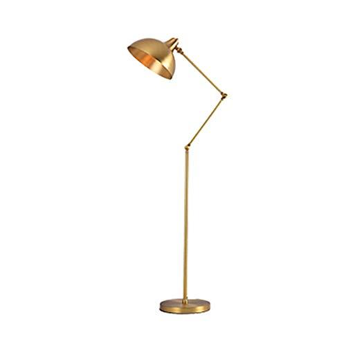 Tiffany Stehlampe Kupfer (TCFSNLDE Kupfer Stehlampe, kreatives Design, Winkeleinstellung (Color : A))