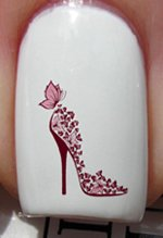 Butterfly High Heels - Nail Decals by YRNails
