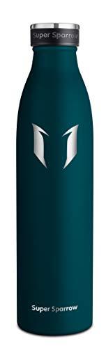 Super Sparrow Edelstahl Trinkflasche - Premium Isolierflasche - 750ml - Sport-Wasserflasche - Auslaufsichere Kappe - BPA-frei - Ideale Thermosflasche für Schule, Outdoor, Fahrrad, Fitness