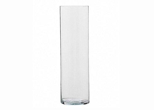 Zelda Bomboniere Cilindro in Vetro Trasparente Diametro 20 Cm Alto 60 Cm
