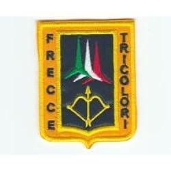 """'Patch Militar """"Aeronautica Militar–frecce Tricolori parche termoadhesivo bordado cm 7x 5,5Replica"""