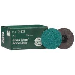 3M Green Corps 264F beschichtet Aluminiumoxid Körnung Quick Change Disc–24, 3in Dia–01408[Preis ist pro Disc]